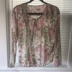 Charming Charlie light and flowey blouse